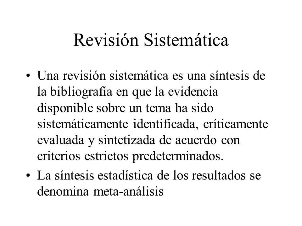 Revisión Sistemática