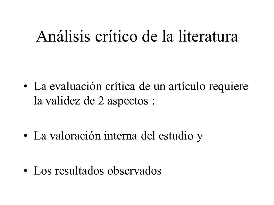 Análisis crítico de la literatura