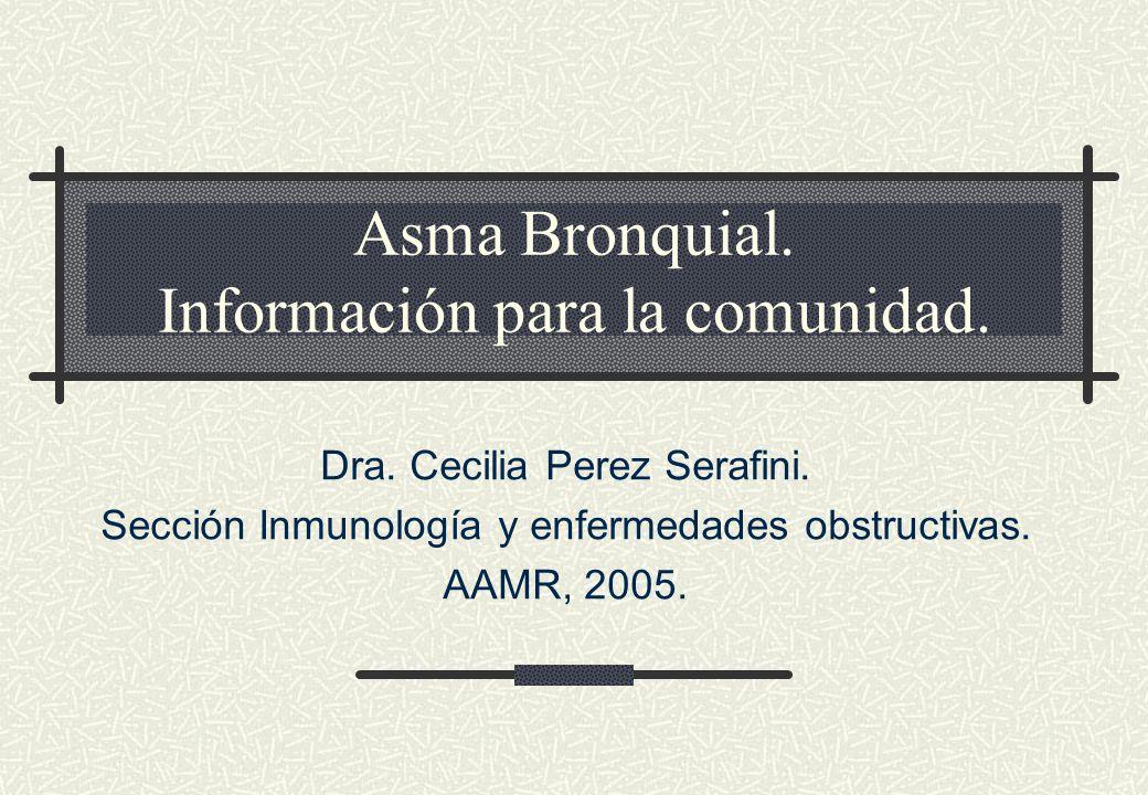 Asma Bronquial. Información para la comunidad.