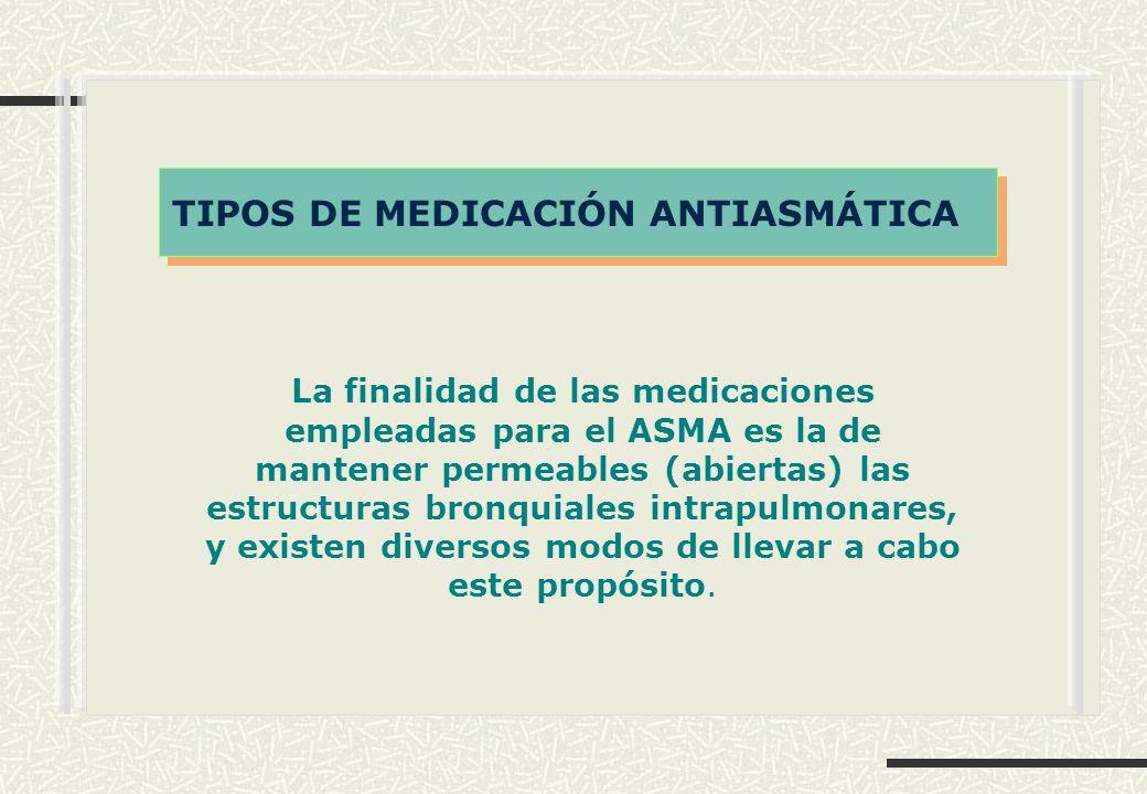 TIPOS DE MEDICACIÓN ANTIASMÁTICA