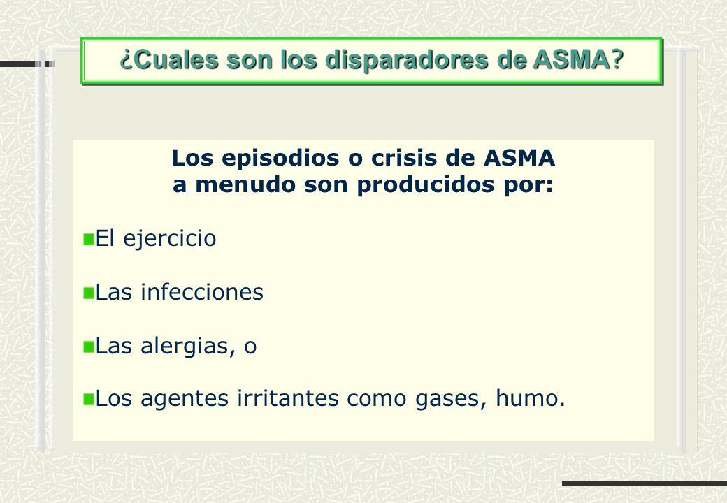 Los episodios o crisis de ASMA