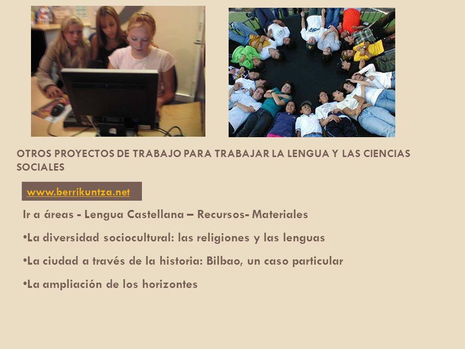 Ir a áreas - Lengua Castellana – Recursos- Materiales