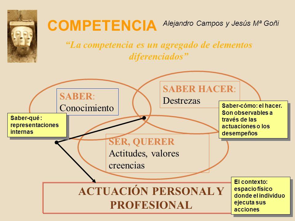 COMPETENCIA ACTUACIÓN PERSONAL Y PROFESIONAL