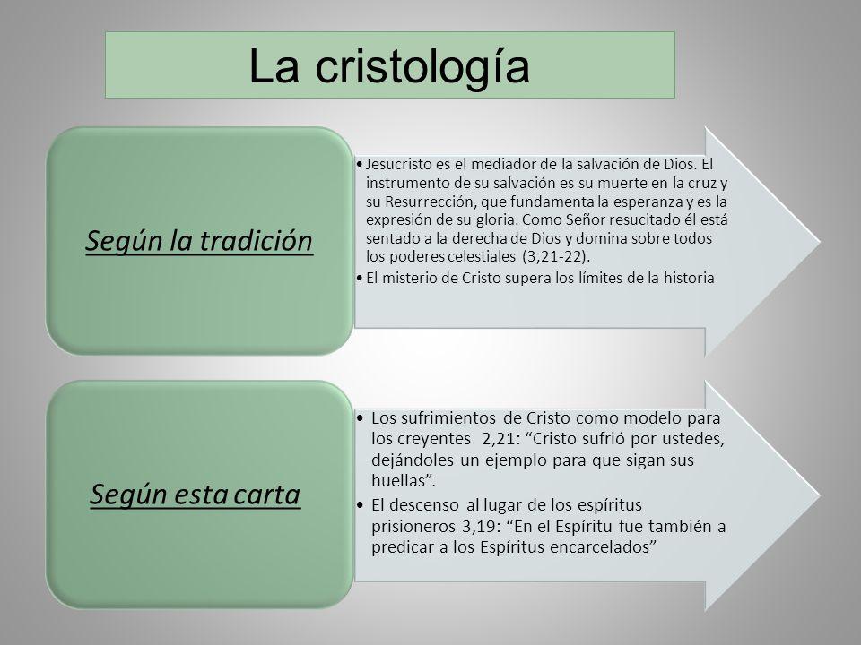 La cristología Según la tradición Según esta carta