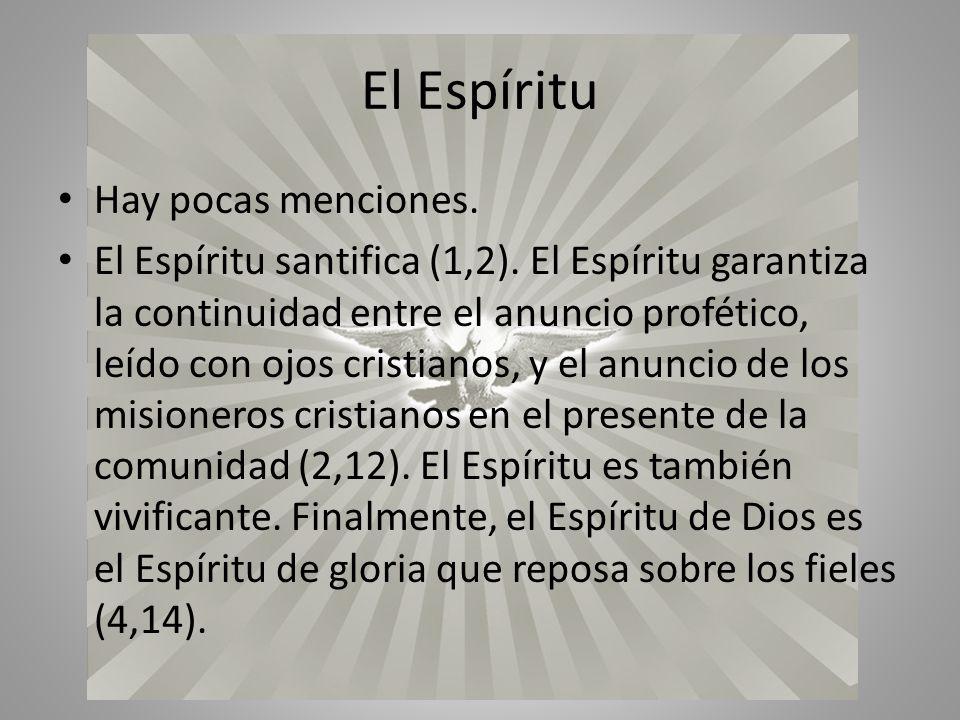 El Espíritu Hay pocas menciones.