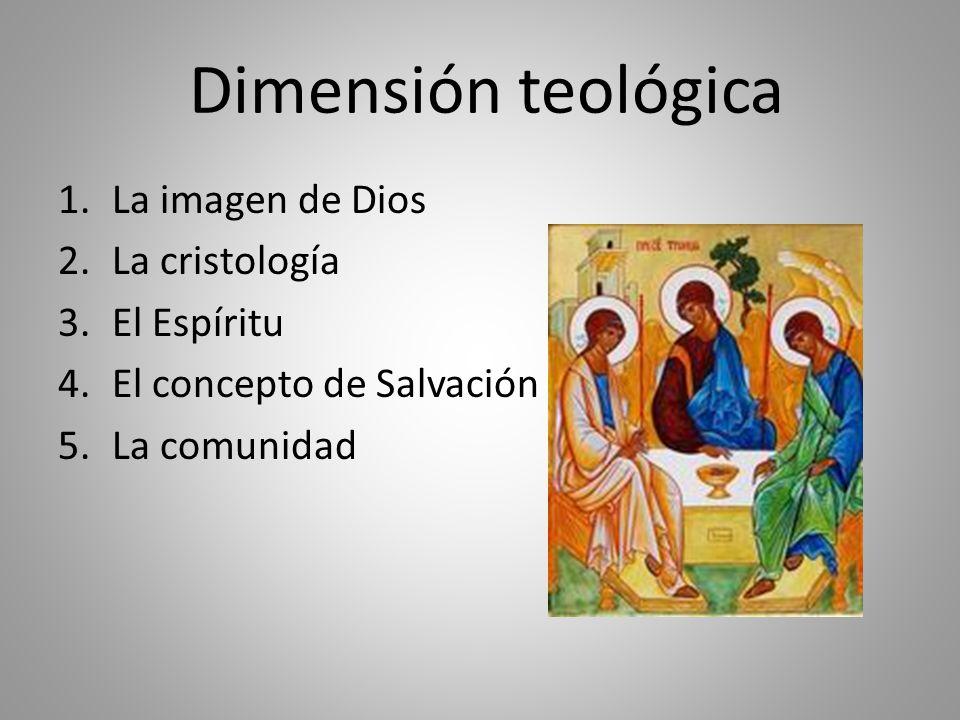 Dimensión teológica La imagen de Dios La cristología El Espíritu