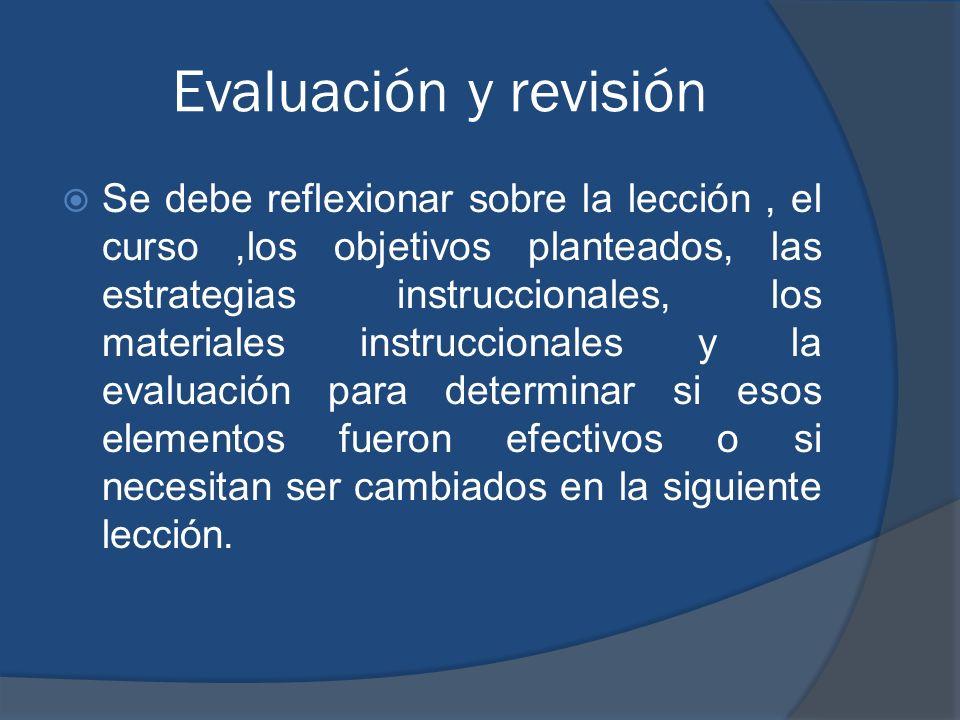 Evaluación y revisión