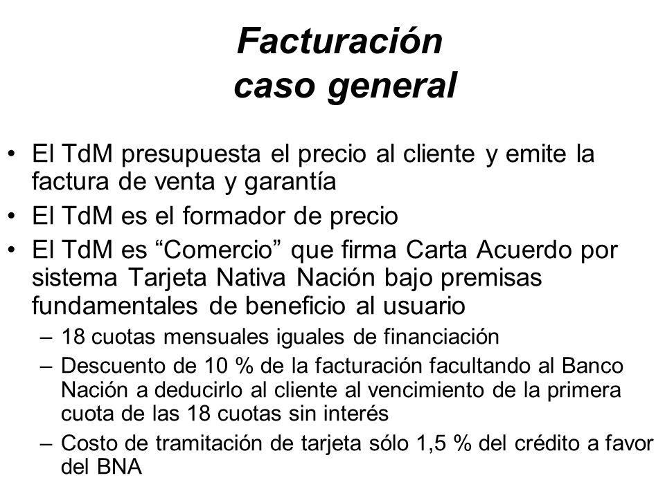 Facturación caso general