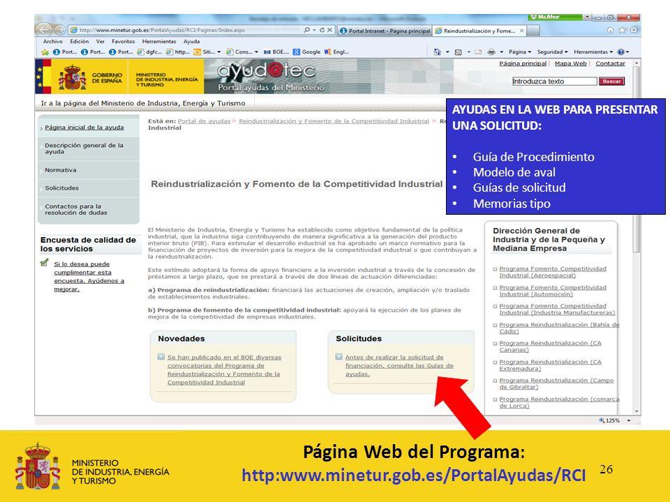 Página Web del Programa: