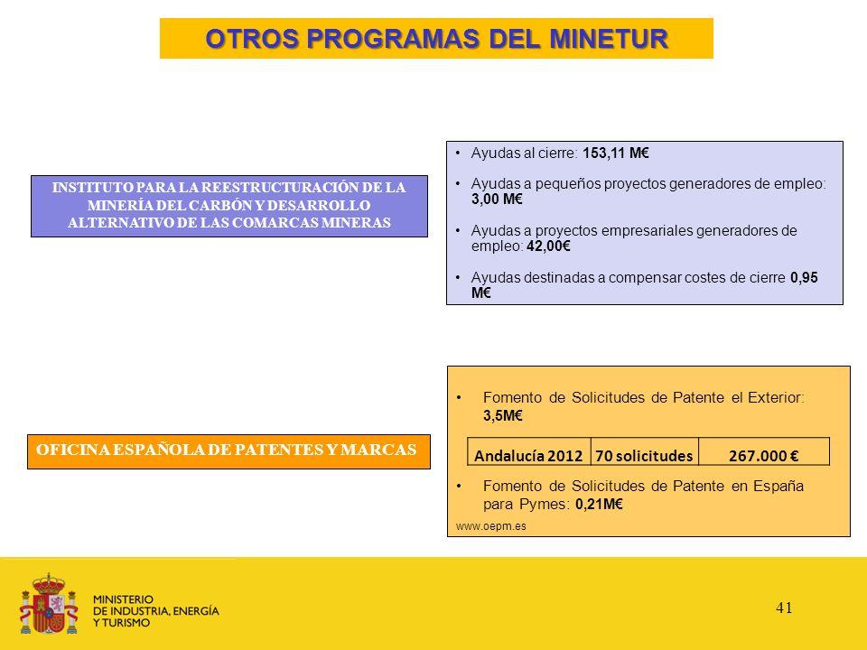OTROS PROGRAMAS DEL MINETUR