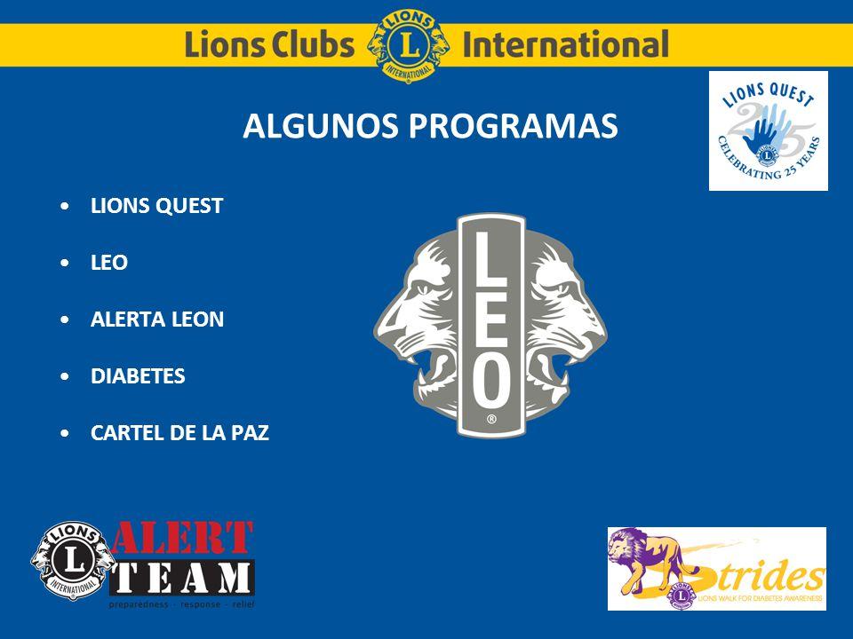 ALGUNOS PROGRAMAS LIONS QUEST LEO ALERTA LEON DIABETES