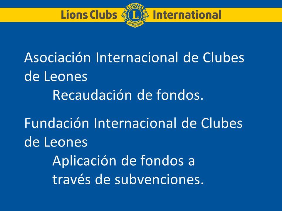 Asociación Internacional de Clubes de Leones. Recaudación de fondos