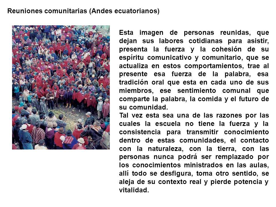 Reuniones comunitarias (Andes ecuatorianos)