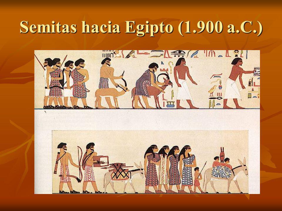 Semitas hacia Egipto (1.900 a.C.)