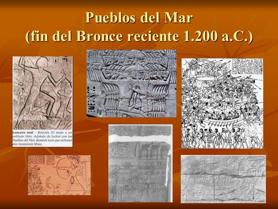 Pueblos del Mar (fin del Bronce reciente 1.200 a.C.)
