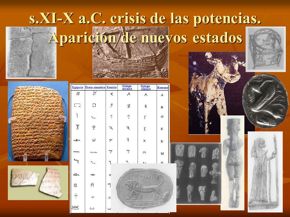 s.XI-X a.C. crisis de las potencias. Aparición de nuevos estados