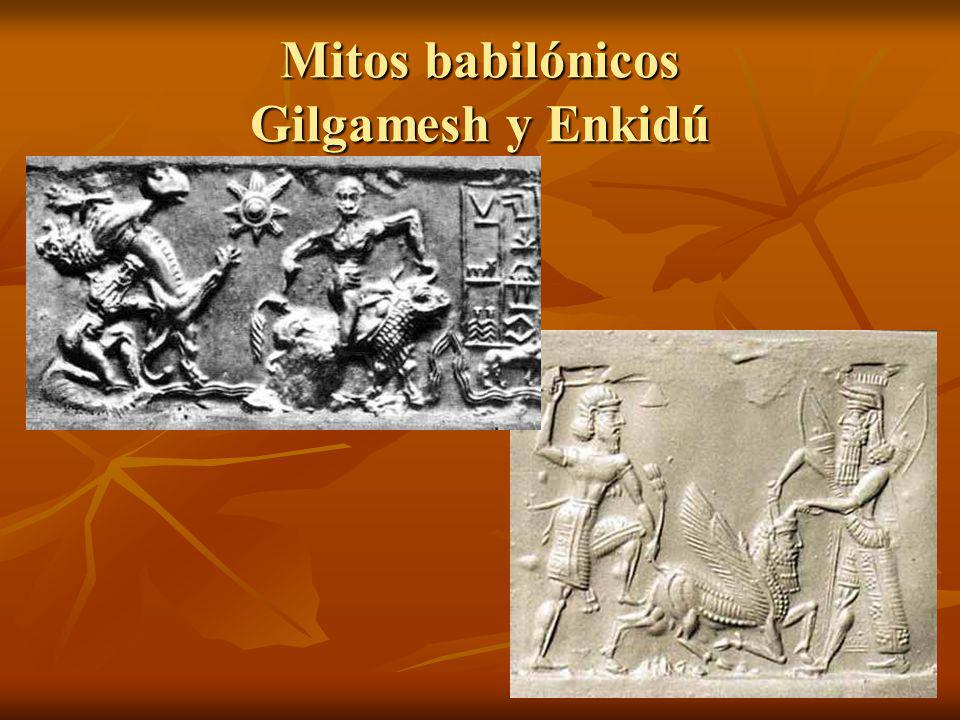 Mitos babilónicos Gilgamesh y Enkidú