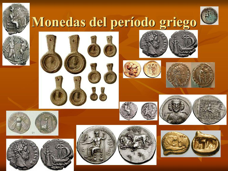 Monedas del período griego