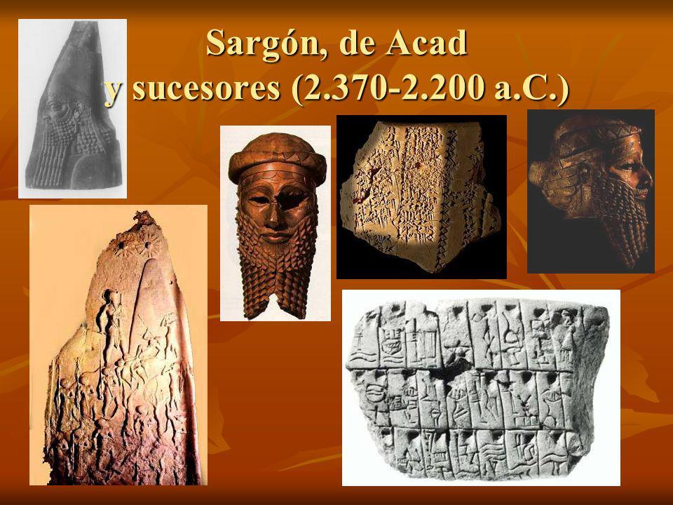 Sargón, de Acad y sucesores (2.370-2.200 a.C.)