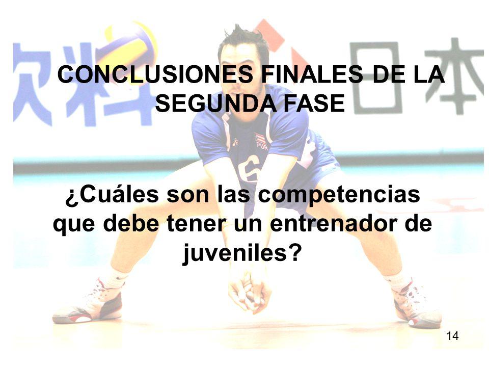 CONCLUSIONES FINALES DE LA SEGUNDA FASE