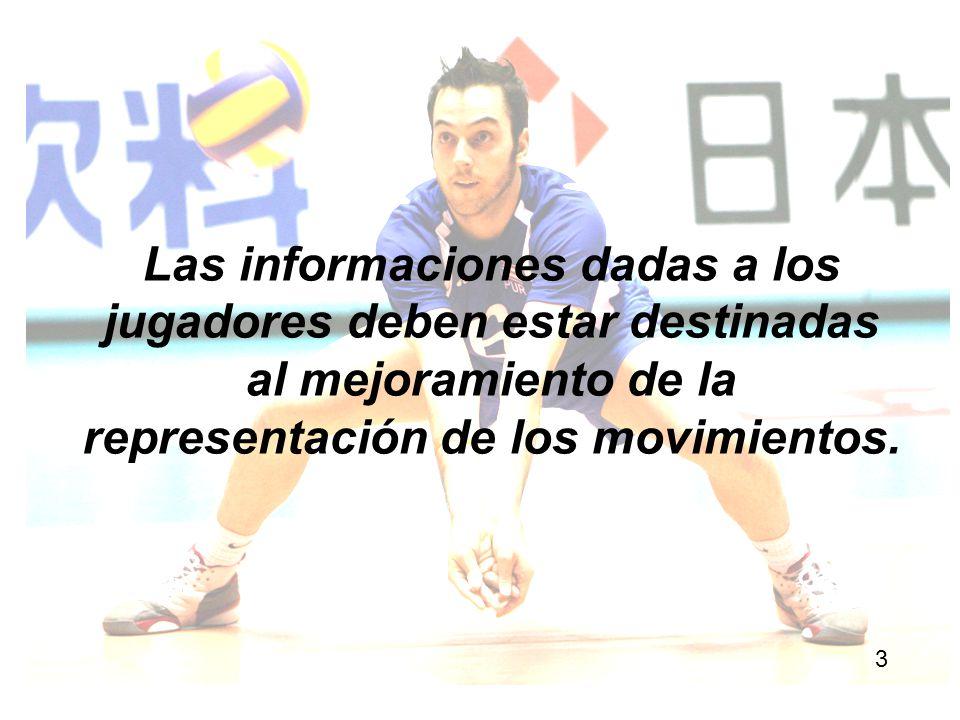 Las informaciones dadas a los jugadores deben estar destinadas al mejoramiento de la representación de los movimientos.