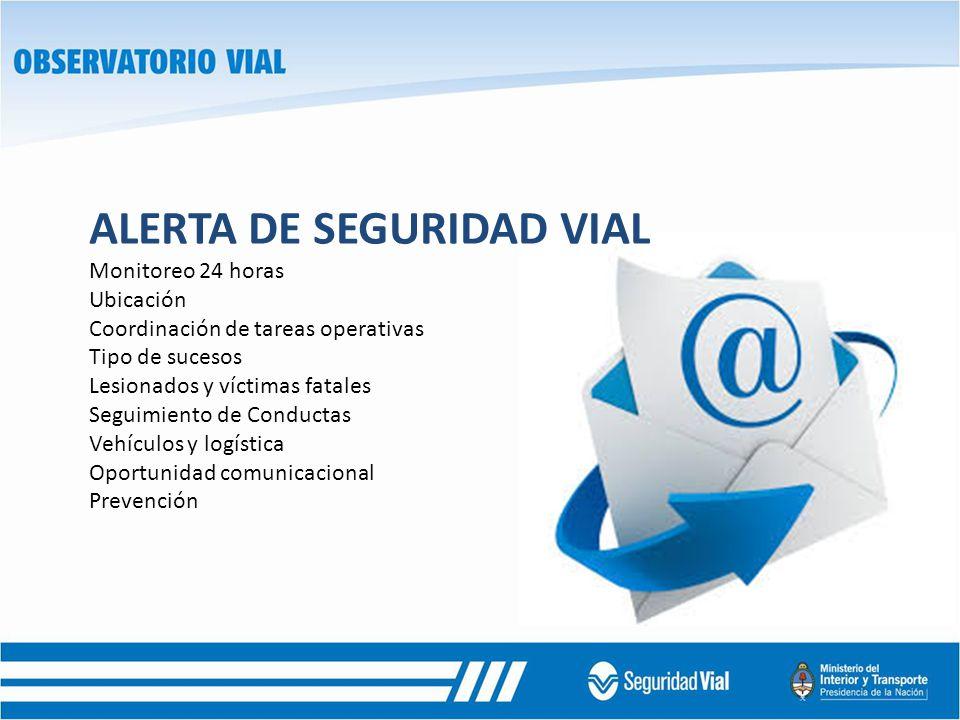 ALERTA DE SEGURIDAD VIAL