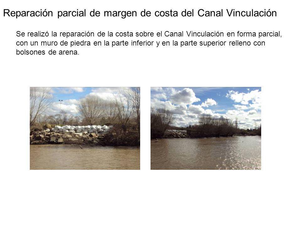 Reparación parcial de margen de costa del Canal Vinculación
