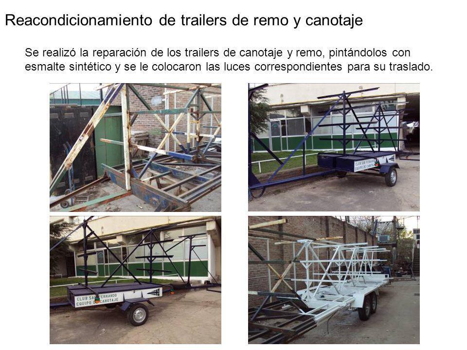 Reacondicionamiento de trailers de remo y canotaje