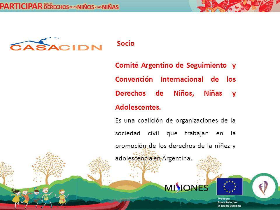 Socio Comité Argentino de Seguimiento y Convención Internacional de los Derechos de Niños, Niñas y Adolescentes.