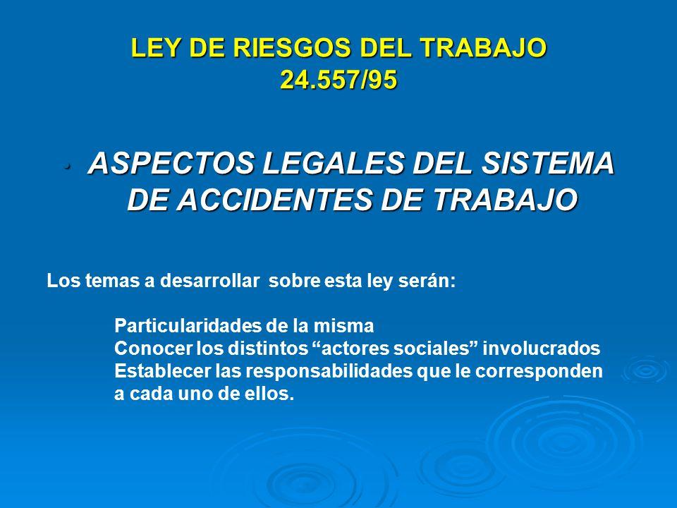 LEY DE RIESGOS DEL TRABAJO 24.557/95