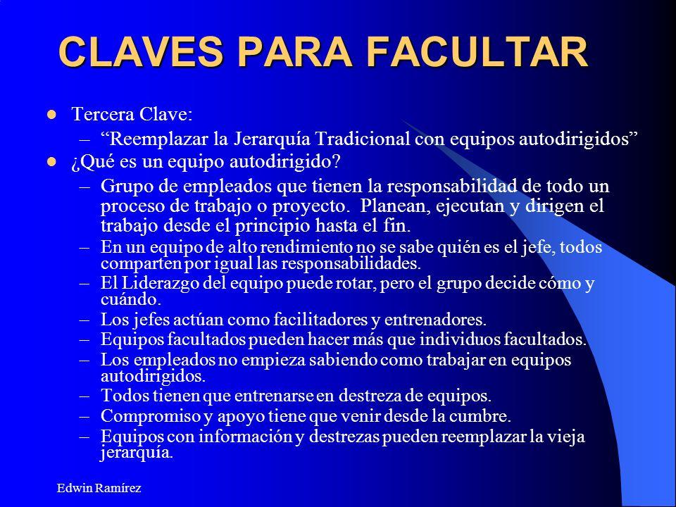 CLAVES PARA FACULTAR Tercera Clave: