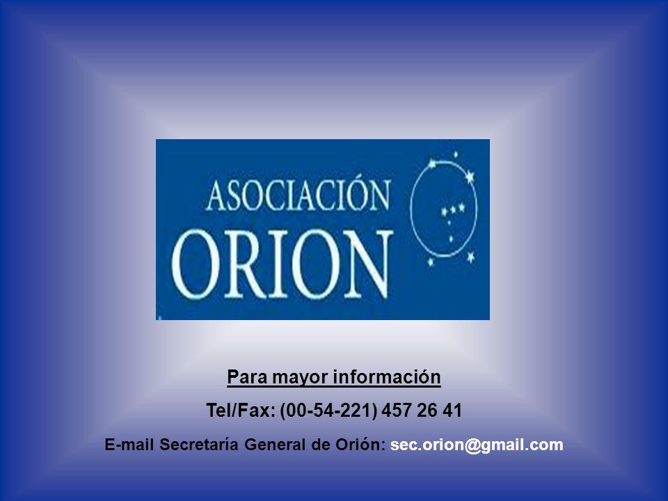 Para mayor información Tel/Fax: (00-54-221) 457 26 41