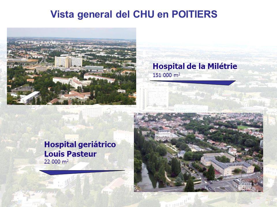 Vista general del CHU en POITIERS