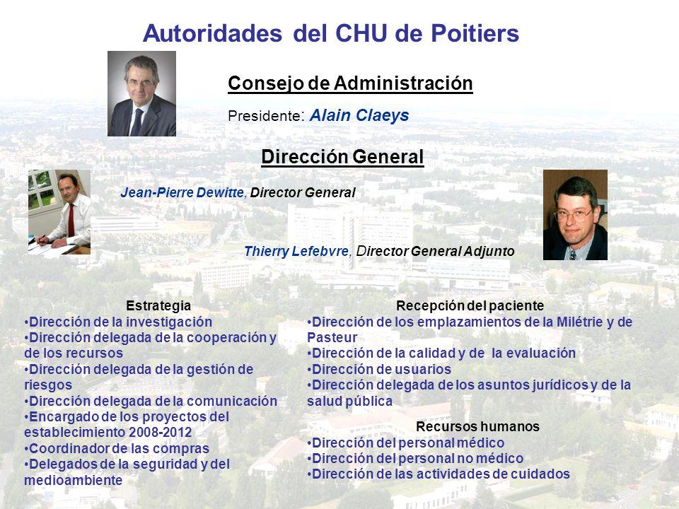 Autoridades del CHU de Poitiers