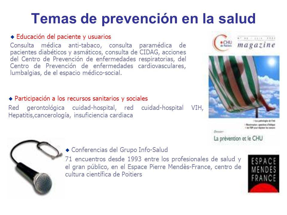 Temas de prevención en la salud