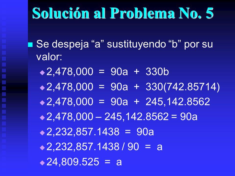 Solución al Problema No. 5