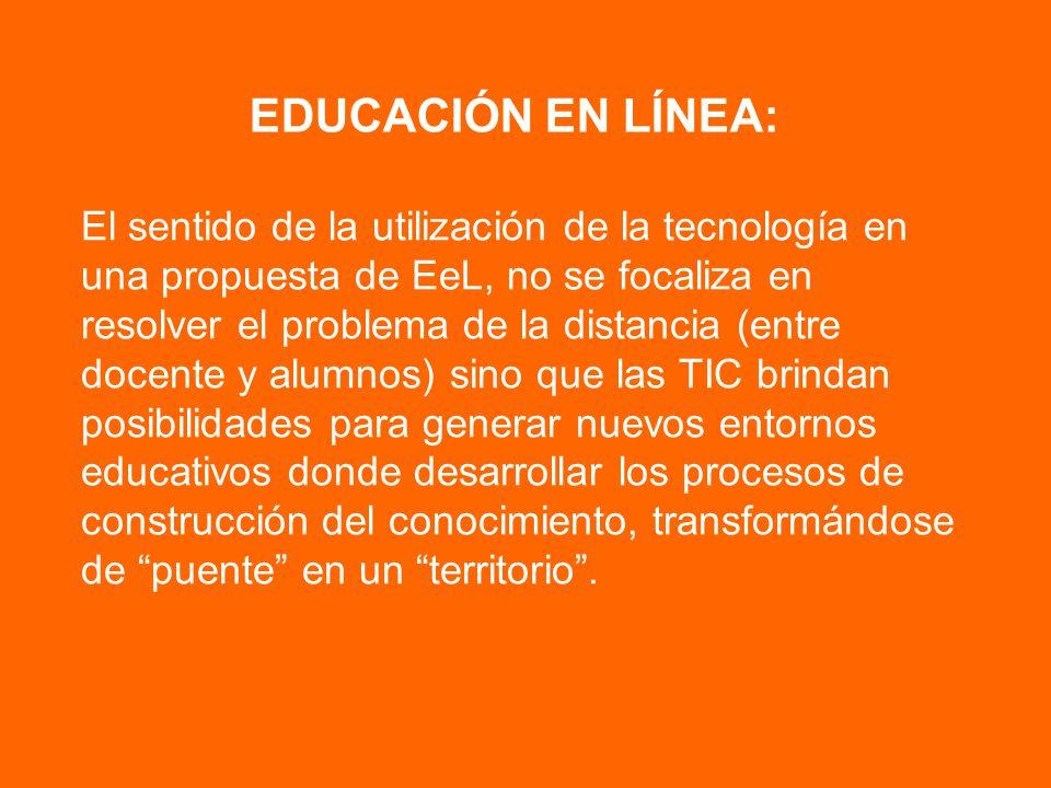 EDUCACIÓN EN LÍNEA: