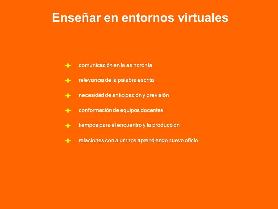 Enseñar en entornos virtuales