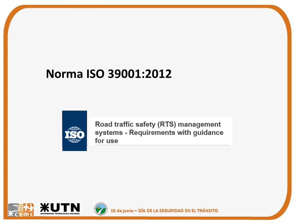 Norma ISO 39001:2012