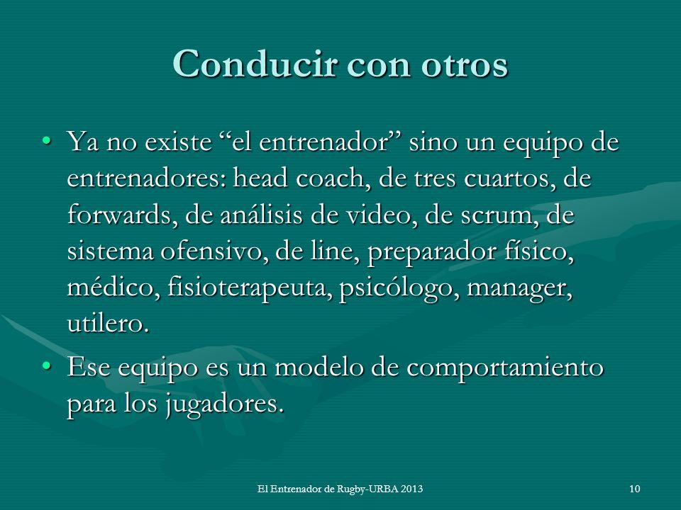 El Entrenador de Rugby-URBA 2013