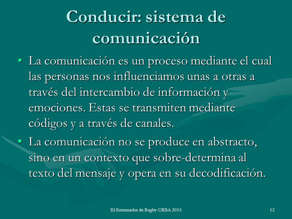 Conducir: sistema de comunicación