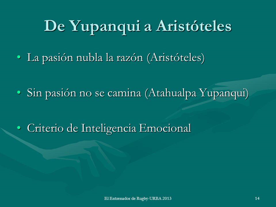 De Yupanqui a Aristóteles