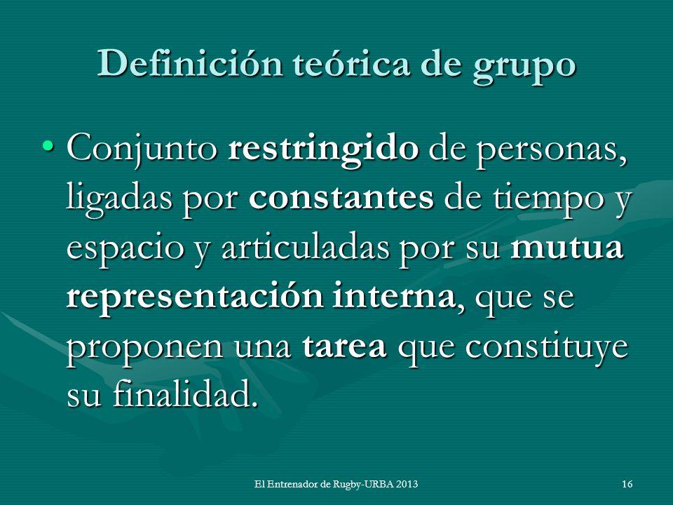 Definición teórica de grupo
