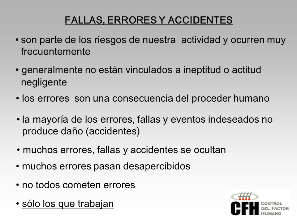 FALLAS, ERRORES Y ACCIDENTES