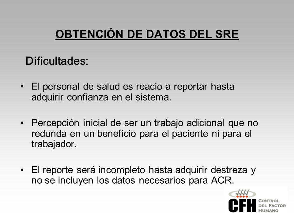 OBTENCIÓN DE DATOS DEL SRE