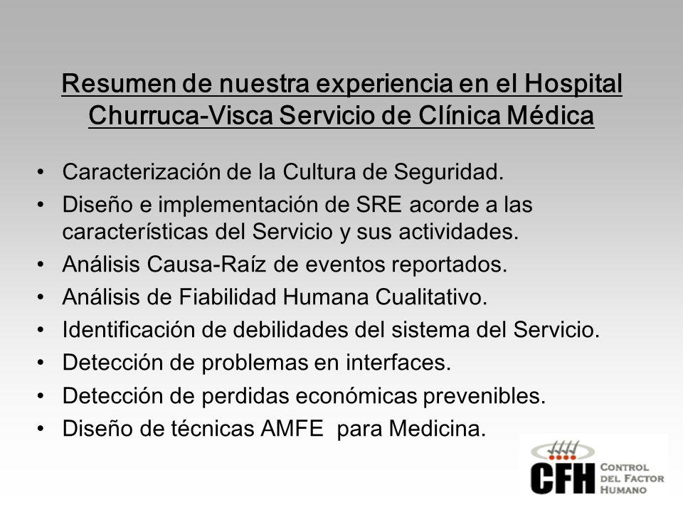 Resumen de nuestra experiencia en el Hospital Churruca-Visca Servicio de Clínica Médica