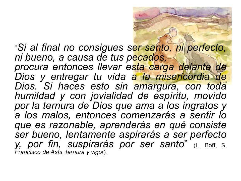 Si al final no consigues ser santo, ni perfecto, ni bueno, a causa de tus pecados,