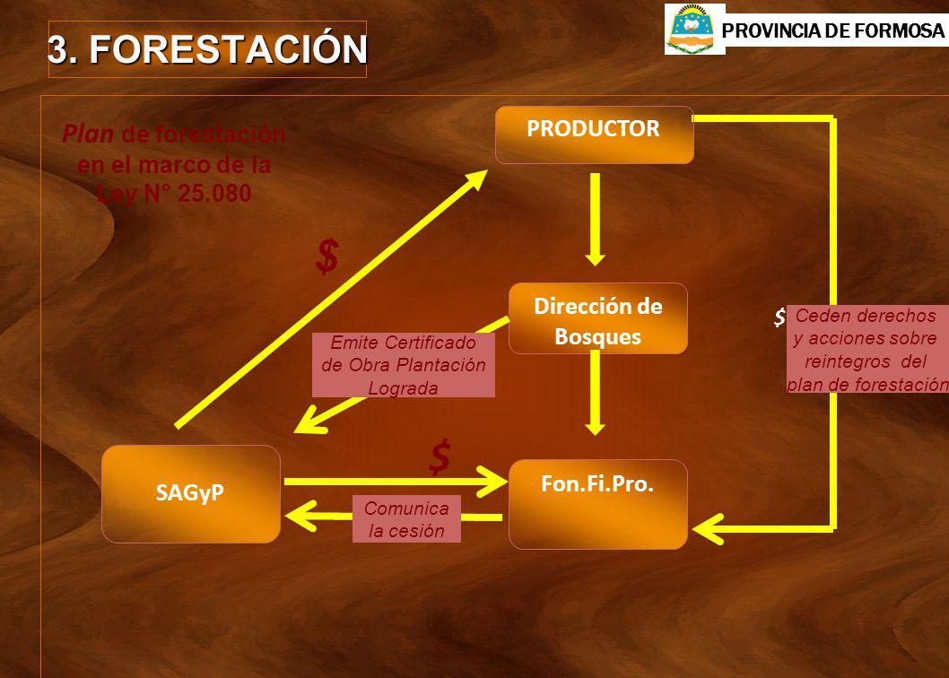 Plan de forestación en el marco de la Ley N° 25.080