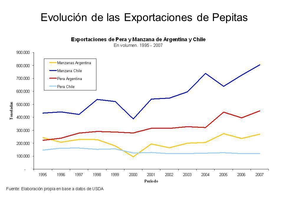 Evolución de las Exportaciones de Pepitas