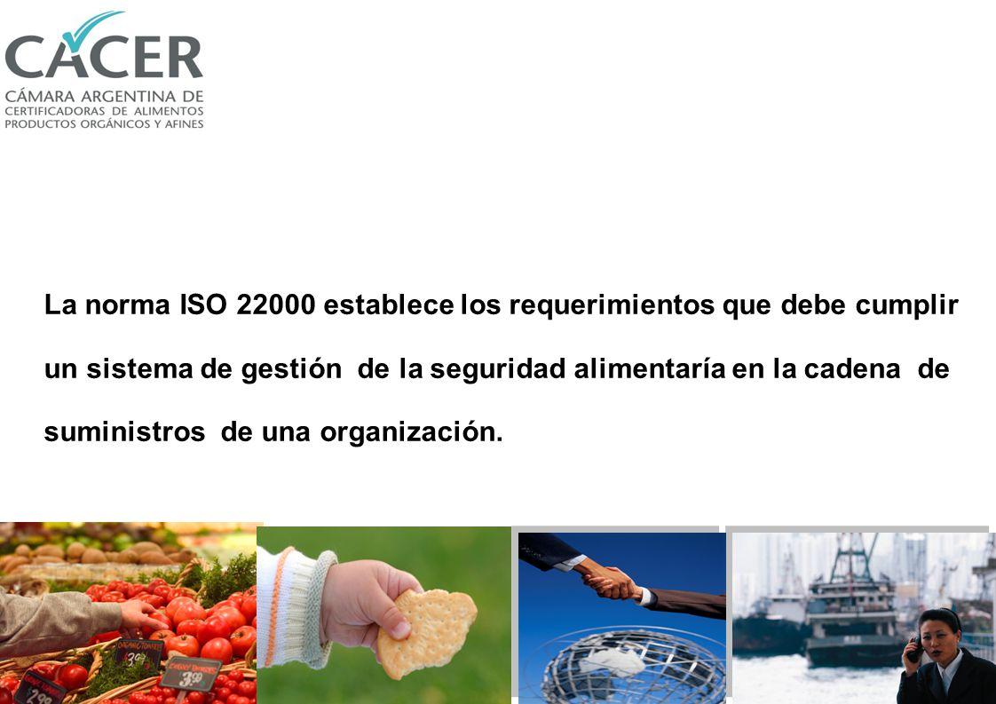 La norma ISO 22000 establece los requerimientos que debe cumplir